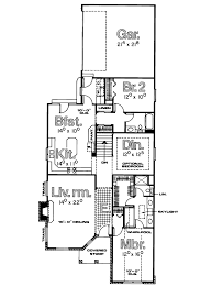 narrow lot house plans with rear garage home act