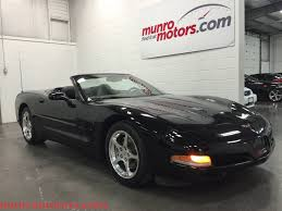 2002 chevrolet corvette convertible sold triple black 6 speed