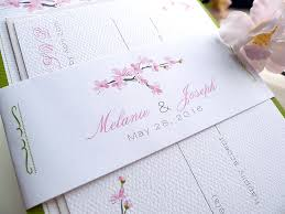 Cherry Blossom Wedding Invitations Cherry Blossoms Wedding Invitations By Prettystationeryshop