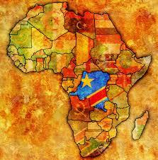 Congo Africa Map Democratic Republic Of Congo On Actual Vintage Political Map