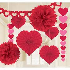 valentines decor valentines decorating kit 9pc garlands banners and decoration