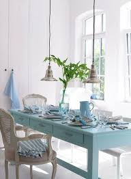 Best Beach Cottage Coastal Tables Images On Pinterest Kitchen - Coastal dining room table
