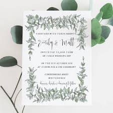 wedding invitations greenery greenery wedding invitation by emmy designs notonthehighstreet