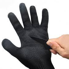 Online Shop Black Anti Slash Cut Proof Outdoor Army Gloves Man