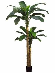 9 5 artificial banana tree plant combined in pot set of