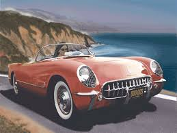 corvette stingray 1955 auto renderings