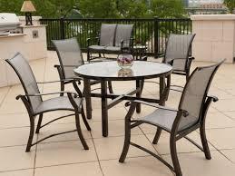 cast aluminum patio dining sets set cnxconsortium outdoor pc white