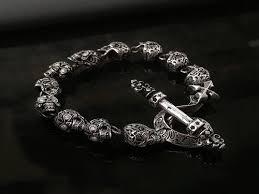 bracelet skull silver images Calavera skull v2 bracelet for men 925 sterling silver handmade in jpg
