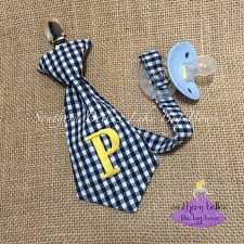 Personalized Gift For Baby Baby Gift Monogrammed Stocking Stuffer Necktie Pacifier Clip