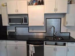 Peel And Stick Stainless Steel Backsplash Tiles  X  Brushed - Stainless steel backsplash reviews