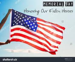 Holding The Flag Man Holding Waving American Usa Flag Stock Foto 646634581