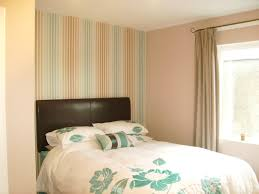 bed wallpaper feature wall bedroom