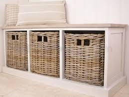 White Bench For Bedroom Bench Resin Wicker Storage Bench Wicker Storage Bench With