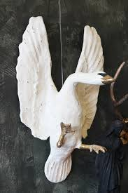 wall hanging flying swan ornament