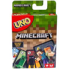 minecraft cards uno minecraft mattel