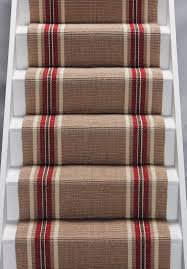 Sisal Stair Runner by Interior Brown Striped Stair Runner Have Borders On White Wooden