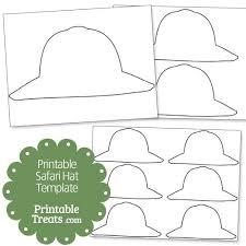 printable safari hat template printable treats jungle