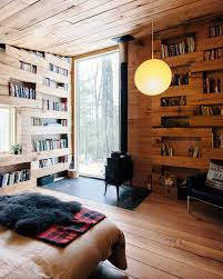 a cabin filled with books in new york studio u0026 loft apartment