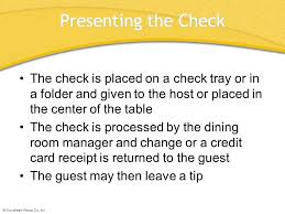 guest check tray chapter 45 table service chapter 45 table service ppt