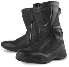 waterproof motorcycle boots icon reign waterproof women u0027s boots revzilla