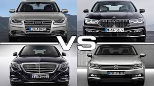 volkswagen bmw audi a8 vs bmw 7 series vs mercedes s class vs vw passat youtube