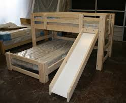 bunk beds handmade bunk beds built in the upstate mini bunk w slide t shape style