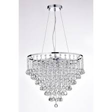 Cascading Chandelier by 5 Light Cascading Crystal Chandelier Chrome Finish Ceiling Fixture