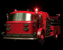 fireman truck and extinguishing animations