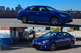 nissan sentra blue 2010 comparison nissan sentra sr vs toyota corolla s six speed blog