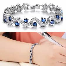white gold crystal bracelet images Oceana diamond crystal bracelets in white gold plating vistashops jpg