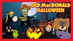 old macdonald had a farm halloween animation english rhymes