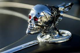 skull rat rod ornament photograph by reger