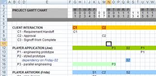 Excell Gantt Chart Template Excel Gantt Chart Template