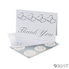 thank you cards hearts wedding thank you cards