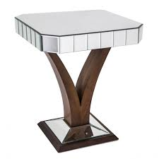 Pedestal Accent Table Furniture Add Modern Style To Your Home With Mirrored Side Table