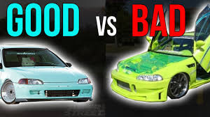 tuner honda the bad side of civic vs the good side ricer vs tuner civic