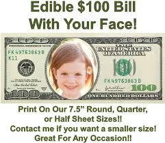 edible money money 100 dollar bill edible cake topper image money