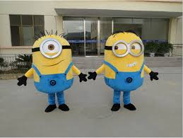 Despicable Minion Costume Free Ship 14 Design Halloween Costumes Suit Minion Mascot
