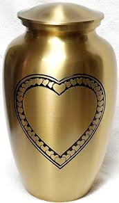 burial urns for human ashes cremation urn large heart funeral urn for human