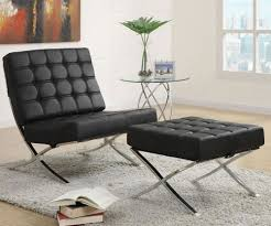 Black Leather Accent Chair Jenelle Leather Accent Chair Furniture Macy S Within Black Remodel