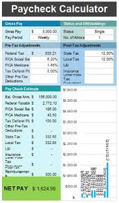 free paycheck calculator template for excel 2007 2016