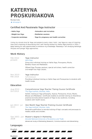 Resume For Teachers Sample by Yoga Instructor Resume Samples Visualcv Resume Samples Database