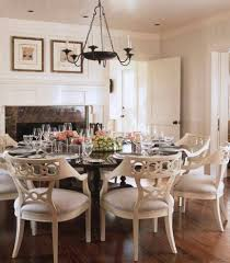farmhouse style dining room with white wood paneling ceiling and