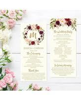 order wedding programs online find the best deals on ceremony program printable template disney