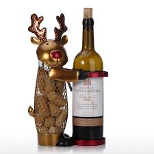 best and cheap golden netted christmas elk wine rack animal wine