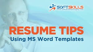 ms resume templates resume editing tips use resume templates in microsoft word youtube