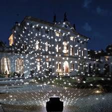 snowfall led lights yoyokit rotating waterproof snowflake outdoor