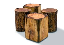 tree stump side table brings nature fragment into your