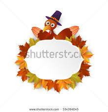 autumn maple leaves background thanksgiving turkey stock vector