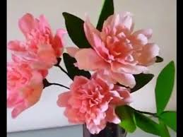 Peony Flowers by How To Make Paper Flowers Peony Flower 1 Youtube